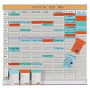 Weekly office planner with T cards 8 columns Nobo