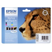 Multipack cartridges Epson T071 - Epson C13T071540A0 - 1 black + 3 colours