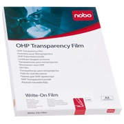 Box transparent film for overhead projector