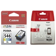 Pack Canon PG545XL black and CL546XL colours