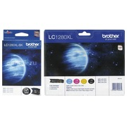 Brother big pack LC1280XL 1 black cartridge + 1 multipack black + color high capacity for inkjet printer