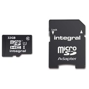 Memory card Integral SDHC with adapter 32 GB - class 10