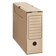 Archive boxes in brown cardboard budget back 10 cm
