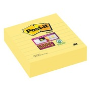 Blok 70 gele Super Sticky Post-it notes 101 x 101 mm, gelijnd- blok van 45 vellen