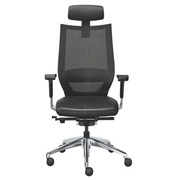Office chair Fortis synchronous mechanism leather