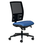 Office chair with mesh back and seat in fabric Bruneau Activ' blue - Synchronic