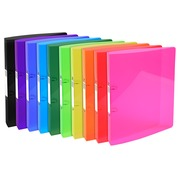 Ring binder 2 ring 30mm IDERAMA PP - A4 maxi - Assorted colours (54770E)