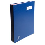 Exacompta Signature Book - 18 Compartments Blue