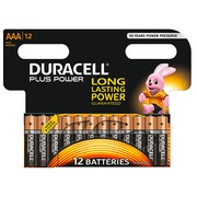 Alkaline battery AAA LR3 Duracell Plus Power - blister of 12