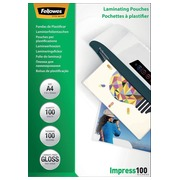 Fellowes lamineerhoes Impress100 ft A4, 200 micron (2 x 100 micron), pak van 100 stuks
