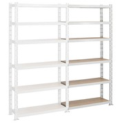 Archive rack Archiv' Eco 2 - extension element H 200 x W 100 x D 35 cm galvanized steel plate single access