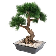 Artificial plant for inside bonsai pine-tree in jar 70 cm