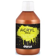 Darwi acrylverf Metal effect, flacon van 250 ml, brons