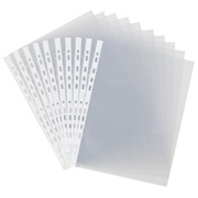 Box containing 100 perforated A4 sleeves Elba PP 9/100 smooth polypropylene