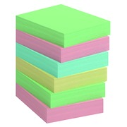 Repositionable notes recycled colored Bruneau 50 x 40 mm - box 12 blocks of 100 sheets