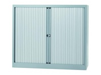 Tambour cabinet Ultra H 103 cm silver