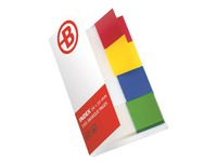 4 x 40 repositionable indexes JM Bruneau, format 19 x 43 mm, 4 assorted colours
