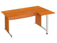 Compact desk W 160 cm right angle L undercarriage Excellens