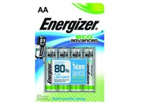 Verpakking met 4 batterijen Energizer Eco Advanced LR06