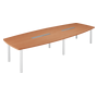 Modular meeting table Belem for 14 people pear tree